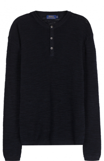Джемпер фактурной вязки из смеси хлопка и льна Polo Ralph Lauren