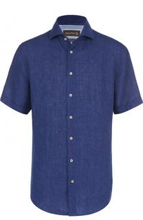 Льняная рубашка с короткими рукавами Jacques Britt