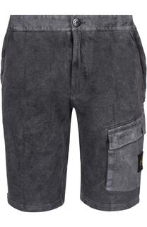 Хлопковые шорты с карманами Stone Island