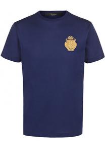 Хлопковая футболка с контрастной отделкой Billionaire