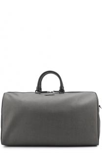 Дорожная сумка с отделкой из натуральной кожи Ermenegildo Zegna