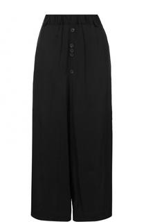 Укороченные брюки из вискозы свободного кроя Damir Doma