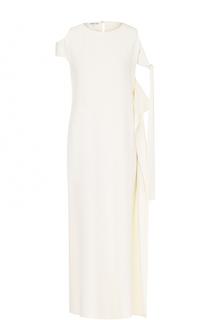Платье-миди прямого кроя с открытыми плечами Helmut Lang