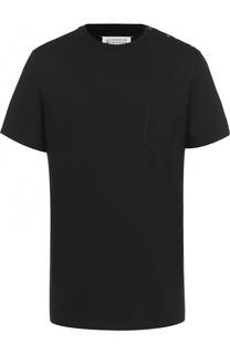 удлиненная хлопковая футболка с круглым вырезом Maison Margiela