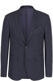 Однобортный пиджак из смеси льна и шерсти Sand