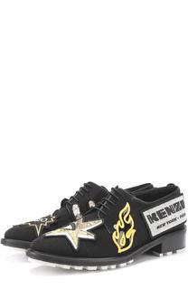 Текстильные ботинки с аппликациями Kenzo