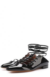 Лаковые балетки на шнуровке Givenchy