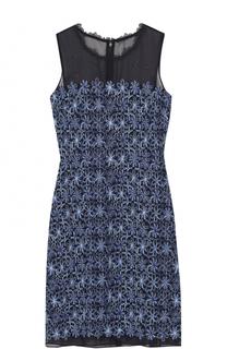 Приталенное мини-платье с контрастной вышивкой Elie Tahari
