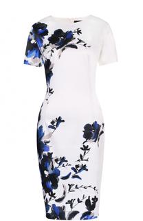 Приталенное платье с цветочным принтом St. John