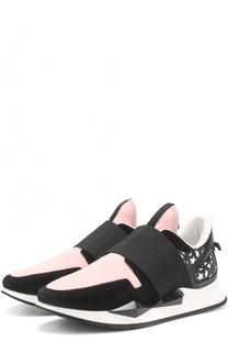 Комбинированные кеды с декором в виде звезд Givenchy