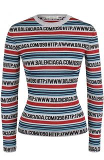 Облегающий пуловер в полоску Balenciaga