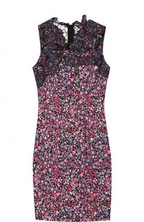 Облегающее мини-платье с цветочным принтом Elie Tahari