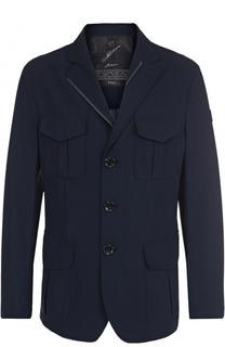 Приталенная куртка на молнии с отложным воротником Montecore
