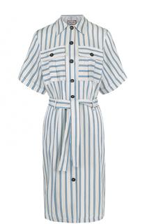 Платье-рубашка в контастную полоску с поясом Paul&Joe Paul&Joe