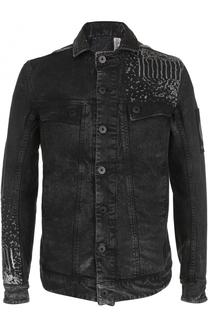 Джинсовая куртка на пуговицах с контрастной отделкой 11 by Boris Bidjan Saberi