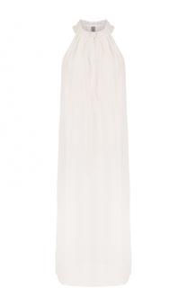 Платье без рукавов с воротником-стойкой Raquel Allegra