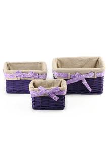 Набор: 3 плетеные корзины Miolla