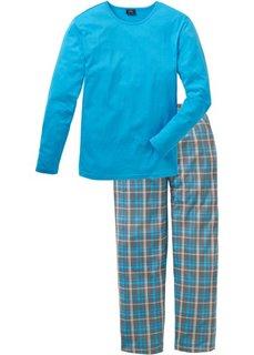 Пижама (бирюзовый в клетку) Bonprix