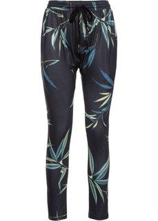 Трикотажные брюки (черный с рисунком) Bonprix