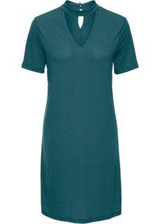 Классика гардероба: платье с чокером (сине-зеленый) Bonprix
