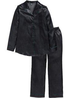 Сатиновая пижама (черный) Bonprix