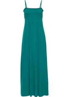 Платье в пол с присобранным лифом (темно-изумрудный) Bonprix