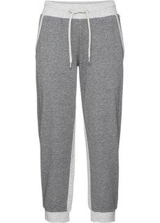 Трикотажные брюки 3/4 (светло-серый меланж) Bonprix