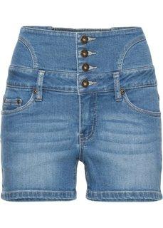 Джинсовые шорты с завышенной линией талии (голубой) Bonprix