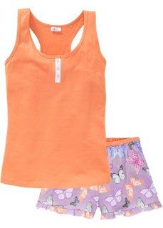Пижама с шортами (оранжевый с бабочками) Bonprix