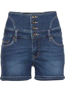 Джинсовые шорты с завышенной линией талии (синий «потертый») Bonprix