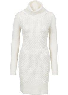Вязаное платье (кремовый) Bonprix