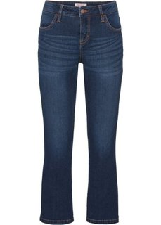 Стрейтчевые джинсы длины 3/4, cредний рост (N) (темно-синий) Bonprix