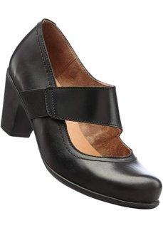 Кожаные туфли Мэри Джейн (черный) Bonprix