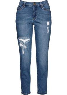 Джинсы длины 7/8 дизайна Maite Kelly (синий «потертый») Bonprix