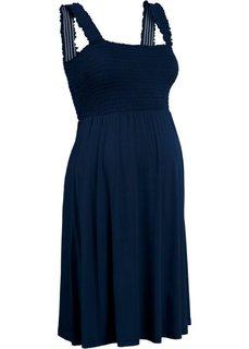 Мода для беременных: трикотажное платье (темно-синий) Bonprix