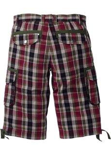 Бермуды карго Regular Fit (бордовый/черный в клетку) Bonprix