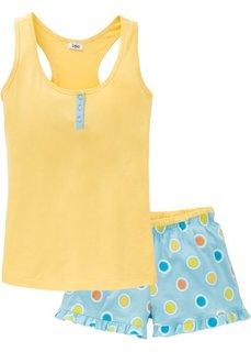 Пижама с шортами (нежно-желтый в горошек) Bonprix