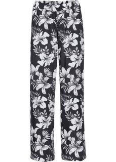 Широкие брюки (черный/белый с рисунком) Bonprix