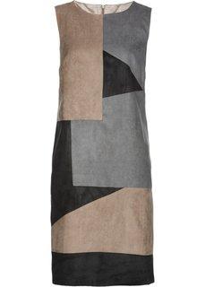 Платье (коричневый/серый/черный) Bonprix