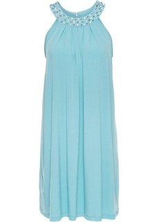 Трикотажное платье, отделанное стразами (полярно-мятный) Bonprix
