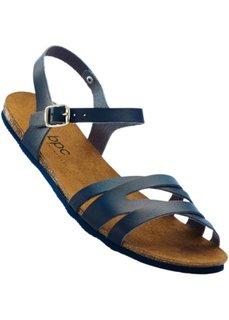 Кожаные сандалии (темно-синий) Bonprix