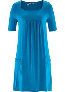 Трикотажное платье с рукавом 1/2 (капри-синий) Bonprix