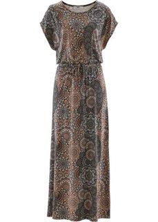 Макси-платье с фантазийным принтом (черный/белый с узором) Bonprix