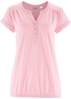 Блузон с короткими рукавами (розовая пудра) Bonprix