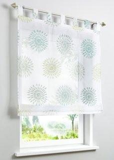 Римская штора Элла, петли (белый/зеленый) Bonprix