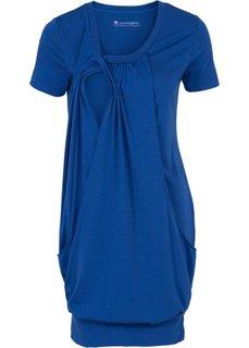 Мода для беременных: платье с функцией кормления (синий) Bonprix