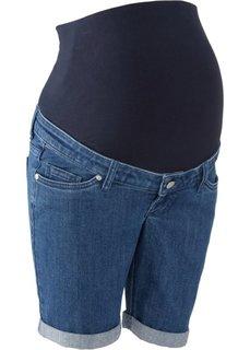 Джинсовые шорты для беременных (синий «потертый») Bonprix