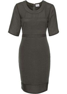 Платье с шифоном (хаки) Bonprix