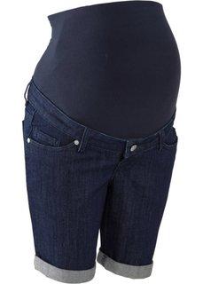 Джинсовые шорты для беременных (темно-синий «потертый») Bonprix