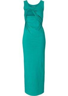 Для будущих и кормящих мам: длинное платье (изумрудный) Bonprix